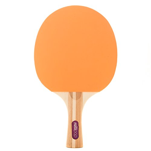 Rallipop | 3-Star Ping Pong Paddle - Premium Table Tennis Racket with Rubber Surface - Perfect Blade for Beginner Through Expert Levels (Tangerine)