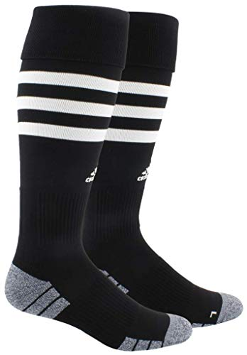 adidas 3-Stripe Hoop Soccer Socks (1-Pair),Black/White,S