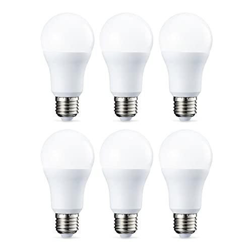AmazonBasics E27 LED Lampe, 10.5W (ersetzt 75W), warmweiß, dimmbar - 6er-Pack
