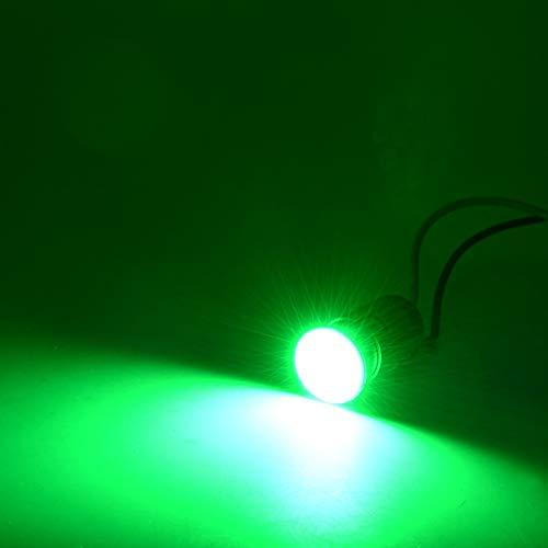 Moto LED Clignotants Lumières COB Puce Haute Luminosité Lampe De Moto Multicolore 2pcs en option (Color : Green)