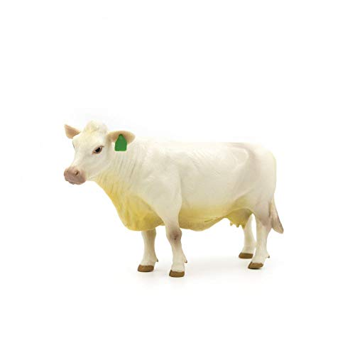 Little Buster Toys Charolais Cow - Realistic Cow  1/16th Scale