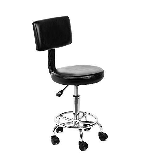 YIQIFEI Roller Rotary Salon Massagehocker Stuhl, verstellbare Schublade Arbeitshocker, mit Walze für Massage Spa Salon Haar Schönheit Maniküre Tattoo-Behandlung Büro.