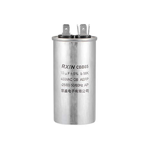 sourcing map 10uf Motor Funcionamiento Condensador 10mfd AC 450V para Aire Acondicionado Compresor o Calor Bomba Condensador - Funciona HVAC AC Motor Y Ventilador