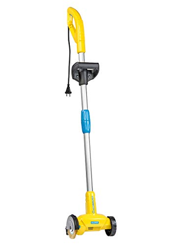 GLORIA WeedBrush | Elektrischer Fugenkratzer | Unkrautbürste | Zwischen Terrassenplatten reinigen | Inkl. Stahldraht-Fugenbürste
