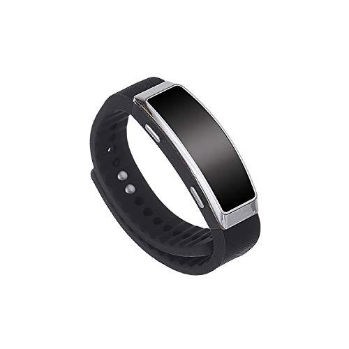 KOBERT GOODS SpyRec: Spionage-Voice-Recorder (SK201) - digitales Aufnahmegerät/Diktiergerät mit 8GB Speicher im Korpus einer digitalen Armbanduhr-Attrappe – inkl. MP3-Funktion mit Headset
