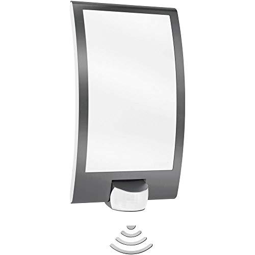 Steinel lampada da parete con rilevatore di movimento 180 gradi e portata max. 10 m, Plastica, Anthrazit, E27 60 wattsW 230 voltsV, glühlampe, elettrico