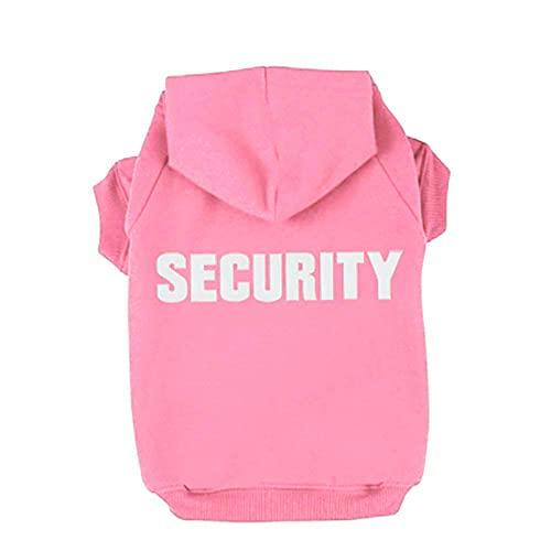 Trudz PET Hunde Kapuzenpulli Security Rdc Pet Bekleidung Hunde Shirt Wärmer Pullover Baumwoll Jackett Mantel Kleiner Hund Mittlerer Hund (Pink,M)