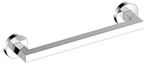 KEUCO - Asidero cromado de 36 cm de largo, soporta hasta 115 kg, para bañera y ducha, montaje en pared