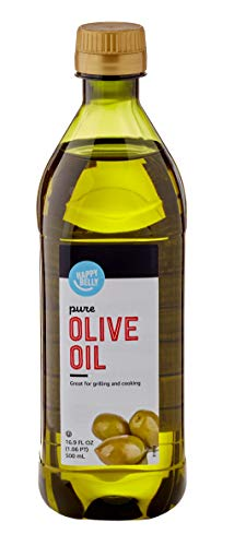 Amazon Brand - Happy Belly Pure Olive Oil, 16.9 fl oz (500mL) (Previously Solimo)