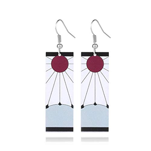 rebirthesame 1 Paar Demon Slayer Earrings Anime Kimetsu No Yaiba Ohrringe Mit Anhänger Cosplay-Requisite Statement Ohrringe for Anime Lovers