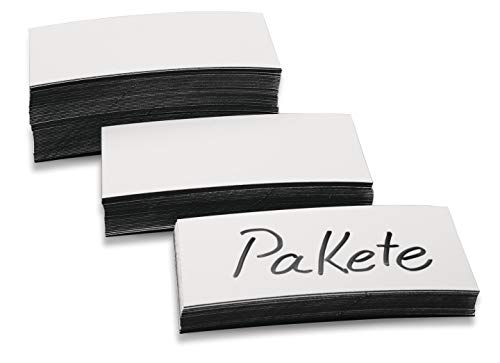 Magnetoplan Lot de 1 étiquettes magnétiques Blanc 20 x 100 x 0,6 mm