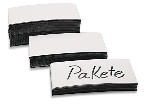 magnetoplan Étiquettes magnétiques Blanc 20 x 100 x 0,6 mm