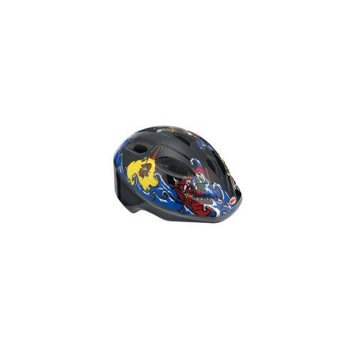 Bell Kinder Fahrradhelm Splash 10, Black/Blue Pirates, Uni (46-50cm), 210034003