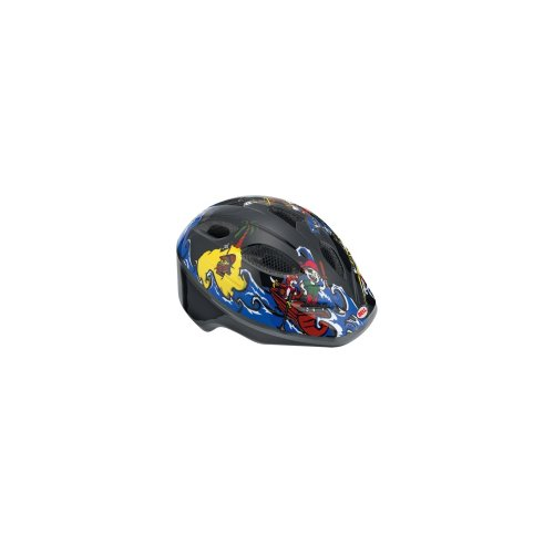 Bell Kinder Fahrradhelm Splash 10, Black/Blue Pirates, Uni (46-50cm), 210034003