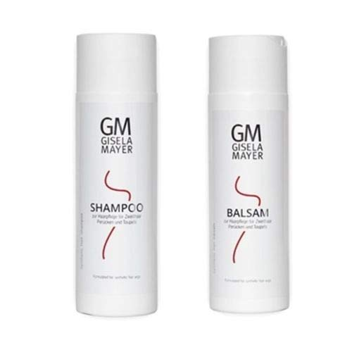 Gisela Mayer - Kit de cuidado para pelucas de pelo sintético, champú de 200 ml + bálsamo de 200 ml