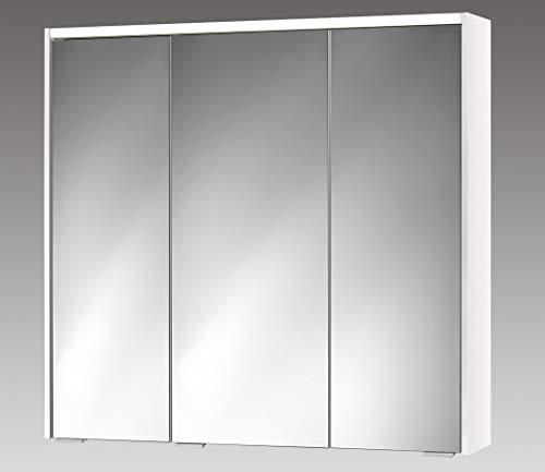 Sieper 80cm Spiegelschrank 3 türig mit Beleuchtung weiß