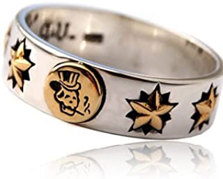 r0650-23 【ブランド名:2PIECES】 シルバーリング メンズ リング 指輪 スカル OLD SCHOOL オールドスクール タトゥー 【23号】