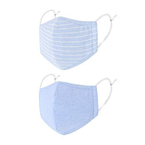 für Kinder DREI Stockwerke/Dreistöckig Faltbar Stereoisomer Stereoskopis Weich für Frauen und Männer Anti-beschlag Zufälliges Muster Wiederverwendbare Anti-Staub Hellblau M
