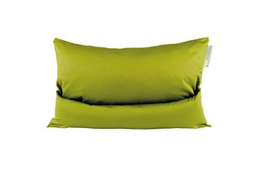 mySheepi Kissenbezug Home - Kopfkissen-Bezug Aus 100% Baumwolle Für Nackenstützkissen - Grün, 60 x 40 cm
