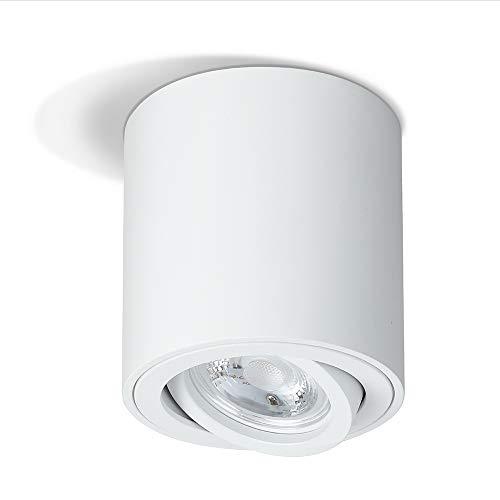 Focos para el Techo Spot Light Cilíndrico Moderno Contemporáneo, base GU10, ARKTIVO Lámpara de Techo, Aluminio, Iluminación de Techo para Dormitorio, Salon, Cocina, Comedor, Balcón, IP20