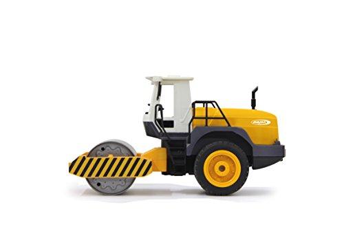 RC Auto kaufen Spielzeug Bild 5: Jamara 410011 - Straßenwalze 1:20 m. Rüttelfunktion 2,4G - Vibrationsmotor in der Walze, realistischer Motorsound, Hupe, Rückfahrwarnsound Blinker, Licht vorne / hinten, profilierte Gummireifen*