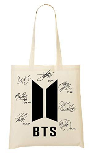 BakoIsland BTS Bangtan Boys Signatures Autograph Tragetasche Einkaufstasche