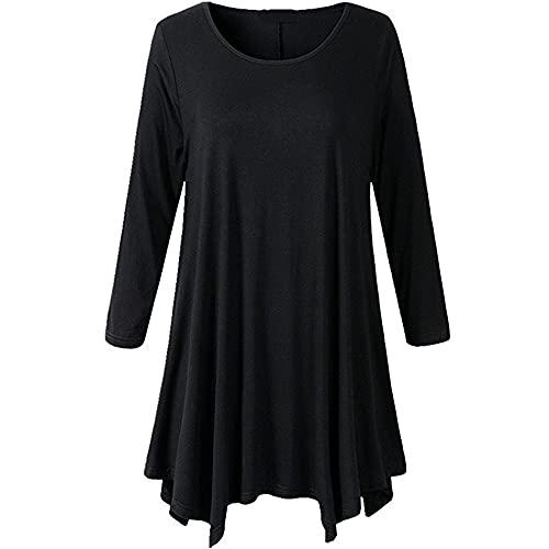 MQYXGS Camisetas de otoño para Mujer de Manga Larga Camisetas de béisbol de Verano, Camisetas de Cuello Redondo, suéteres Jerseys de Fondo Camisas Deportivas Casuales Tops Sueltos Estilos de Moda.