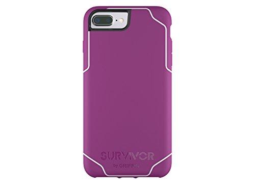 Griffin GB42900 Survivor Adventure beschermhoes voor Apple iPhone 7 Plus/7 Plus Dual/6S Plus/6 Plus zwart/rook/helder, Survivor Journey, iPhone 7+/7+ Dual/6s+/6+, Sangria/wit.