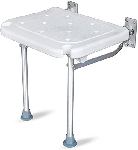 Acolchado SillaDe Ducha, Sillas de ducha para personas mayores, silla de baño sin deslizamiento plegable Banco de ducha Flip-up tornillo de baño Asiento de baño Montado en pared Taburete para discapac