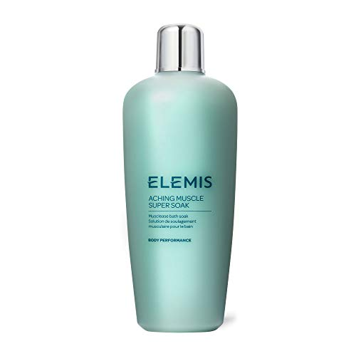 ELEMIS Aching Muscle Super Soak Musclease Natural Foaming Bath Milk Warms, Recharges, and Energizes Tired, Overworked Muscles Post-Workout 400 mL