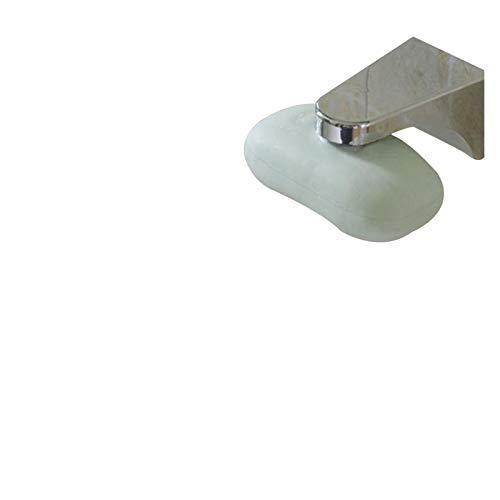 Double Nice Caja de jabón Soporte de jabón magnético de Plata del hogar Potente Ventosa de succión Caja de jabón de Acero jabón de jabón para Cocina Accesorios de baño Caja de jabón autodrenante