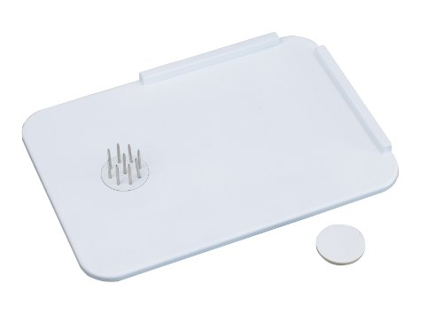 Homecraft Plastic Spread Board with Spikes (Eligible for VAT Relief in the UK) Tray with L Shaped Corner, Stainless Steel Spikes Hold Food in Place, Cut & Spread, Adaptive Kitchen Aid for One Hand Use