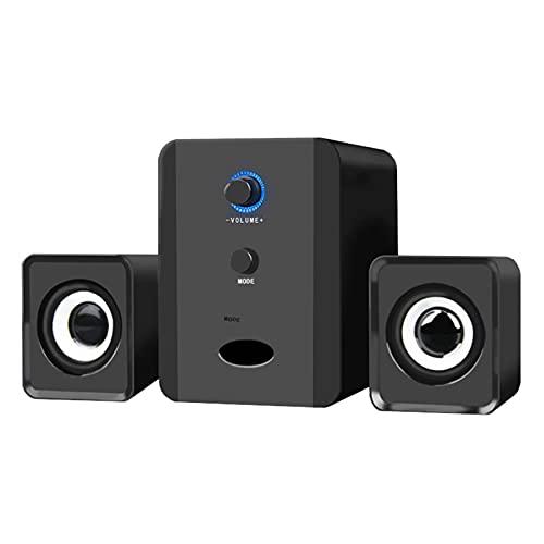 KANGLE-DERI Mini Altavoz de combinación con Cable USB Bass Stereo Player Subwoofer para computadora portátil