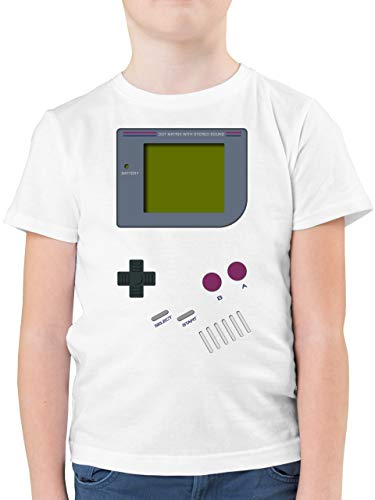 Up to Date Kind - Gameboy - 116 (5/6 Jahre) - Weiß - t-Shirt Jungen 158 - F130K - Kinder Tshirts und T-Shirt für Jungen