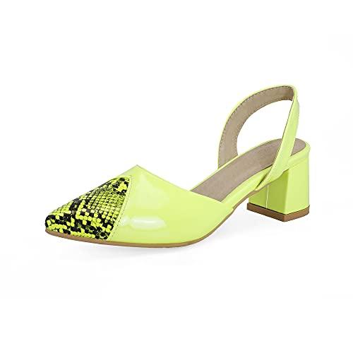 Tacón medio con sandalias de 5 cm fáciles de caminar e informales, para mujer st358s, color Blanco, talla 39 EU