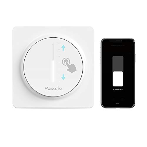 Maxcio WiFi Dimmer, LED-Dimmer Kompatibel mit Alexa / Google Home, APP-gesteuerter dimmbarer LED-Dimmer, Timer und Share, Need Line Neutral