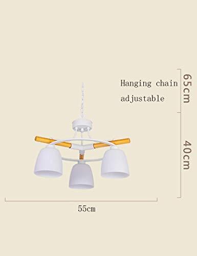 Kronleuchter Mehr Energie Sparen Holz Glas Schatten Einfache Moderne Wohnzimmer Schlafzimmer Restaurant Tagesdecke Mode-1 Licht (GRÖßE: 55 * 40 CM)