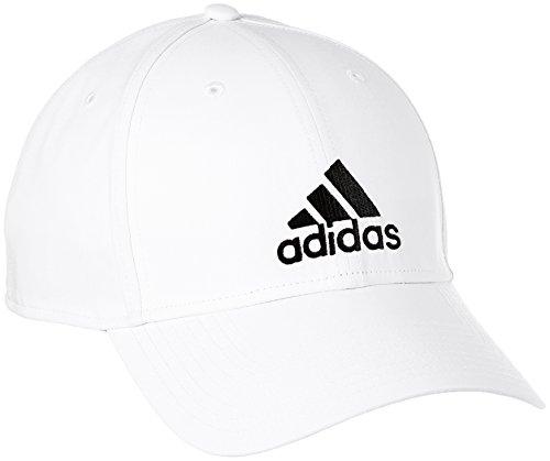 adidas 6 Panel Lightweight Emb Schirmmütze, White/White/Black, OSFM