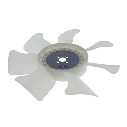 New Total Power Parts Radiator Fan 1906-1004 Compatible/With Replacement For Kubota L2501D, L2501H, L2800DT, L2800F, L2800HST, L3200DT, L3200F, L3200H, L3301DT, L3301F, L3301H, L3400DT 34030-16210