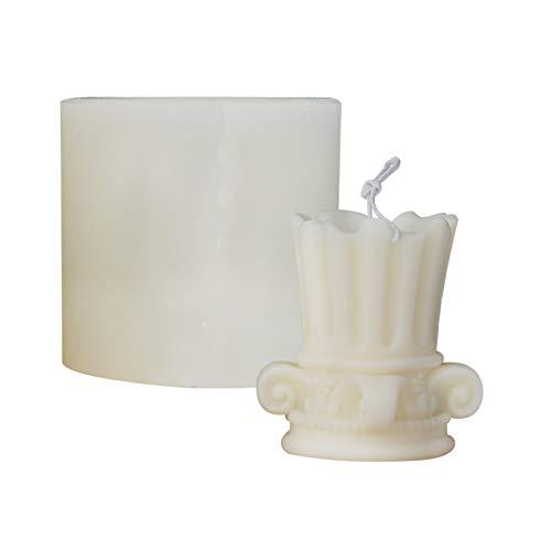 Stampi per candele in silicone, stampo per candeliere romano, colonna romana greca in marmo, stampo retrò per candele artigianali fai da te fatto a mano, decorazione di candele di sapone