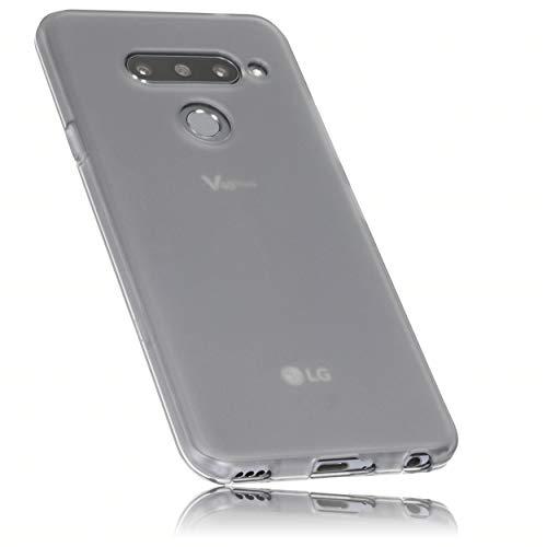 mumbi Hülle kompatibel mit LG V40 ThinQ Handy Hülle Handyhülle, transparent schwarz
