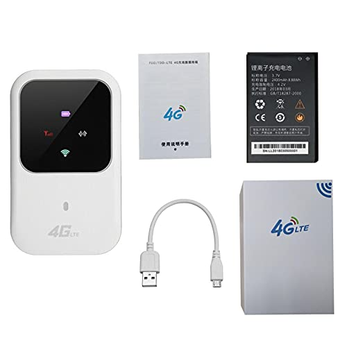 RYRA Enrutador inalámbrico móvil, desbloqueado 4G 150 Mbps LTE inalámbrico WiFi router mini portátil multiusuario WIFI inalámbrico para teléfono/tableta/PC