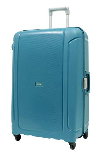 Alistair X-Lock Large 78 cm Trolley Suitcase – Lightweight and Resistant Polypropylene – 4 Wheels – French Brand, Vert Aqua (Green) - CPP04 -L- Vert Aqua