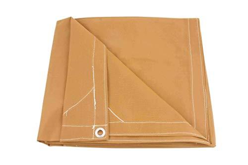 Mytee Products 12' x 16' Tan Canvas Tarp 12oz Heavy Duty Water Resistant