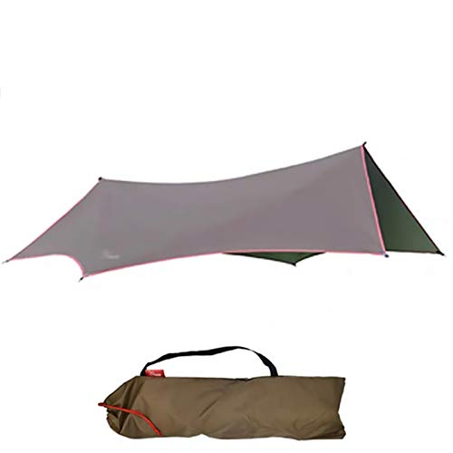XYF Camping Tarp Waterproof, Portable Portable Canopy Sunshade, Ultralight Sun Shelter, Silver Coated UV Protection 50+, Hex Sunshade Suitable For 4-6 People