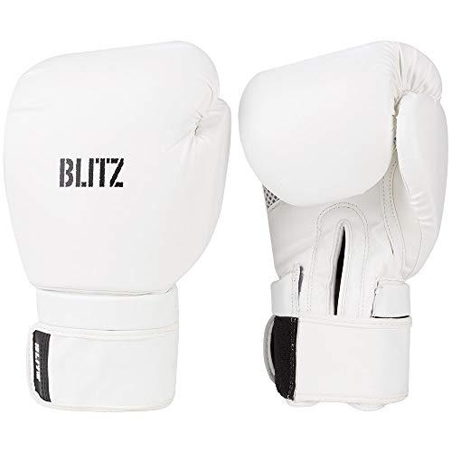 Blitz Omega Boxhandschuhe, weiß, 396,9 g (14 oz)