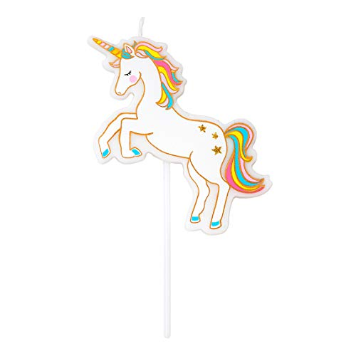 Talking Tables Unicorn Candle Magical Statement Cake Topper Height 10cm