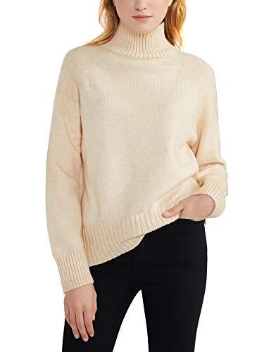 Jersey de Punto Mujer Cuello Alto Pullover Suéteres Sueltos Manga Larga Chaqueta Otoño Invierno Tops Camisas Camiseta Casuales