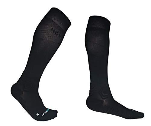 HOYISOX - Calcetines de compresión para hombre y mujer, talla grande, 20-30 mmHg, S