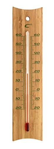 TFA 12,1049 Bamboe thermometer binnen en buiten